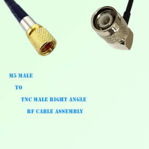 Microdot 10-32 M5 Male to TNC Male Right Angle RF Cable Assembly