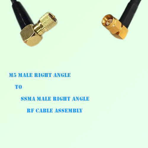 Microdot 10-32 M5 Male R/A to SSMA Male R/A RF Cable Assembly