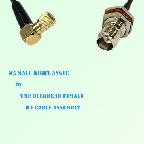 Microdot 10-32 M5 Male R/A to TNC Bulkhead Female RF Cable Assembly