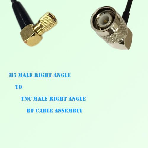 Microdot 10-32 M5 Male R/A to TNC Male R/A RF Cable Assembly
