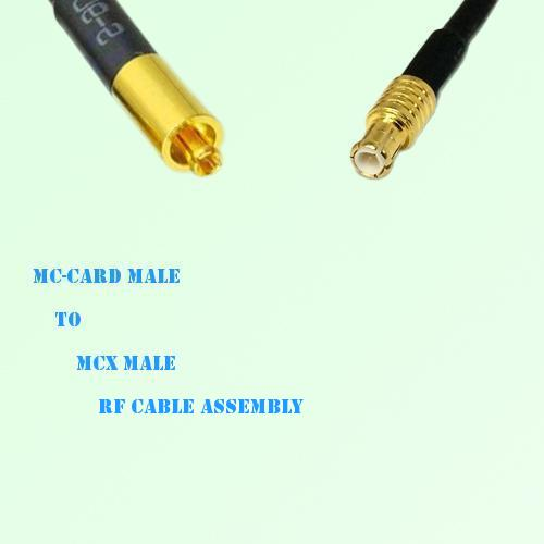 MC-Card Male to MCX Male RF Cable Assembly