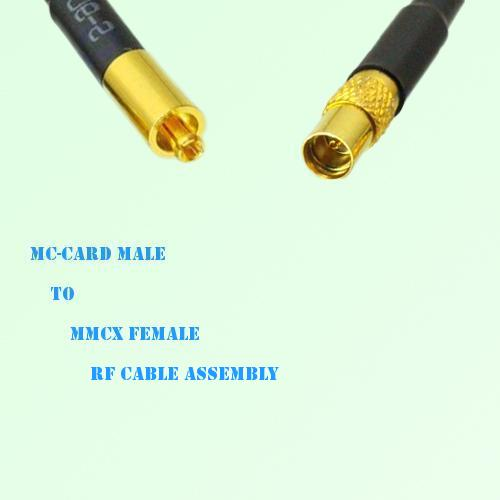 MC-Card Male to MMCX Female RF Cable Assembly