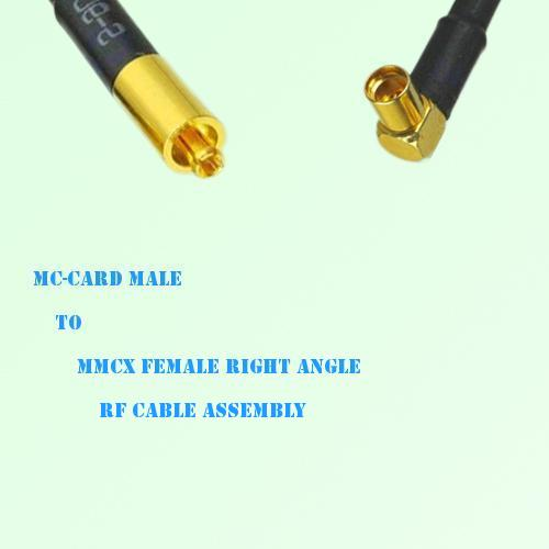 MC-Card Male to MMCX Female Right Angle RF Cable Assembly