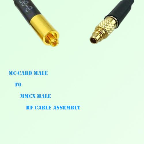 MC-Card Male to MMCX Male RF Cable Assembly