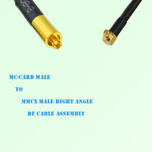 MC-Card Male to MMCX Male Right Angle RF Cable Assembly