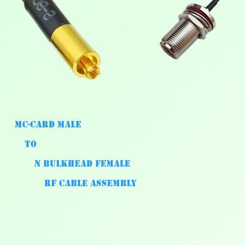 MC-Card Male to N Bulkhead Female RF Cable Assembly
