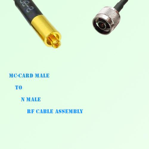 MC-Card Male to N Male RF Cable Assembly