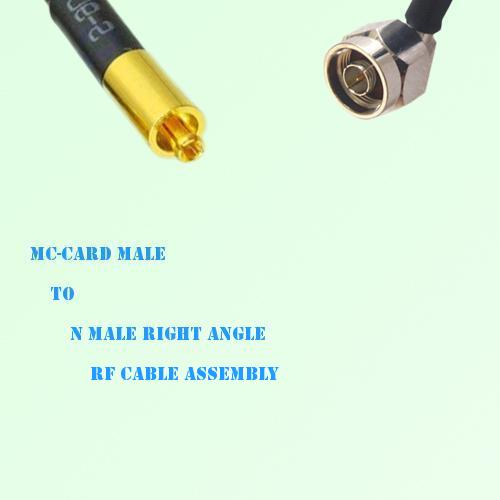 MC-Card Male to N Male Right Angle RF Cable Assembly