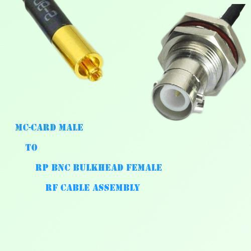MC-Card Male to RP BNC Bulkhead Female RF Cable Assembly