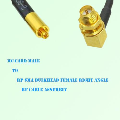 MC-Card Male to RP SMA Bulkhead Female Right Angle RF Cable Assembly