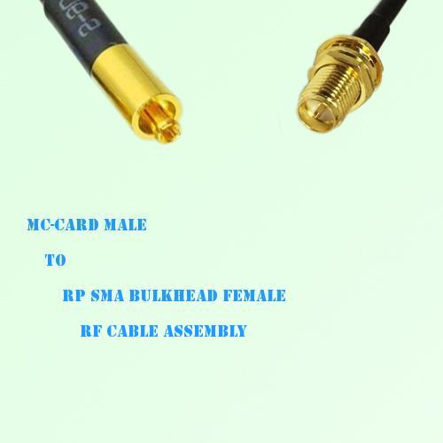MC-Card Male to RP SMA Bulkhead Female RF Cable Assembly