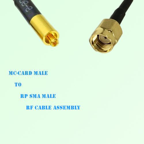 MC-Card Male to RP SMA Male RF Cable Assembly