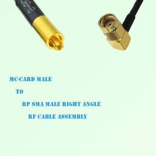 MC-Card Male to RP SMA Male Right Angle RF Cable Assembly