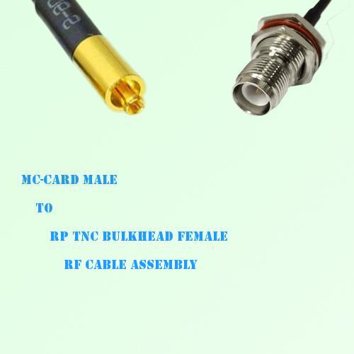 MC-Card Male to RP TNC Bulkhead Female RF Cable Assembly