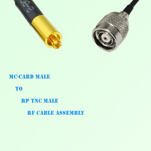 MC-Card Male to RP TNC Male RF Cable Assembly