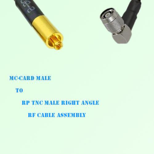 MC-Card Male to RP TNC Male Right Angle RF Cable Assembly