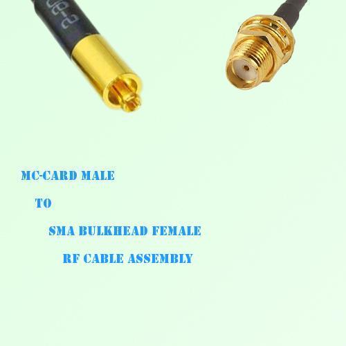 MC-Card Male to SMA Bulkhead Female RF Cable Assembly