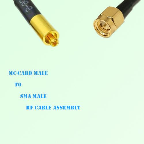 MC-Card Male to SMA Male RF Cable Assembly