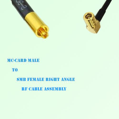 MC-Card Male to SMB Female Right Angle RF Cable Assembly