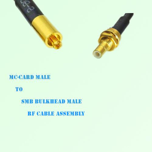 MC-Card Male to SMB Bulkhead Male RF Cable Assembly