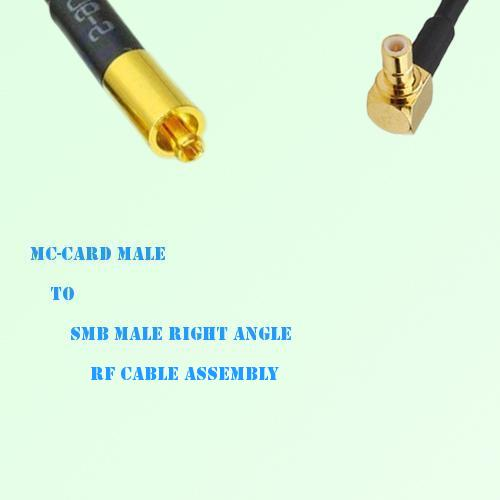 MC-Card Male to SMB Male Right Angle RF Cable Assembly