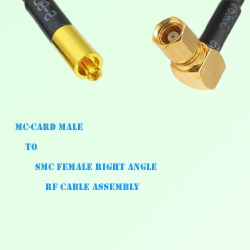 MC-Card Male to SMC Female Right Angle RF Cable Assembly