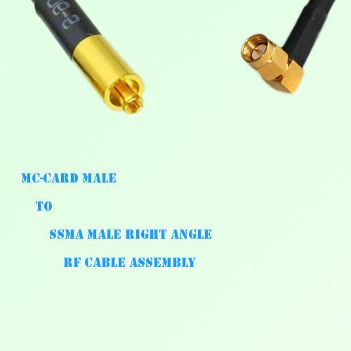 MC-Card Male to SSMA Male Right Angle RF Cable Assembly