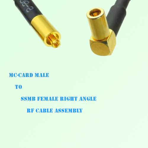 MC-Card Male to SSMB Female Right Angle RF Cable Assembly