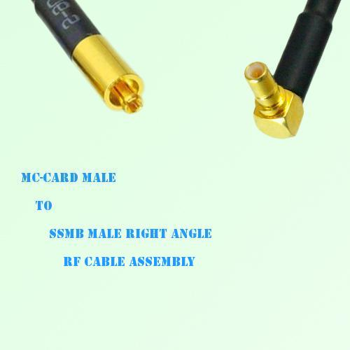 MC-Card Male to SSMB Male Right Angle RF Cable Assembly