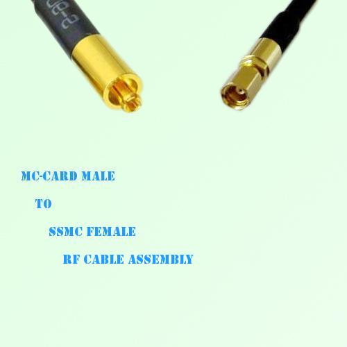 MC-Card Male to SSMC Female RF Cable Assembly