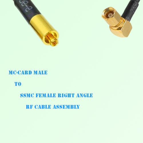 MC-Card Male to SSMC Female Right Angle RF Cable Assembly