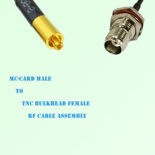 MC-Card Male to TNC Bulkhead Female RF Cable Assembly