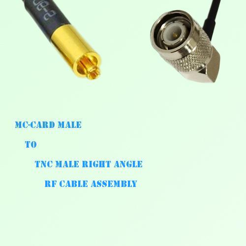 MC-Card Male to TNC Male Right Angle RF Cable Assembly