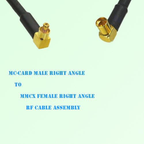 MC-Card Male Right Angle to MMCX Female Right Angle RF Cable Assembly