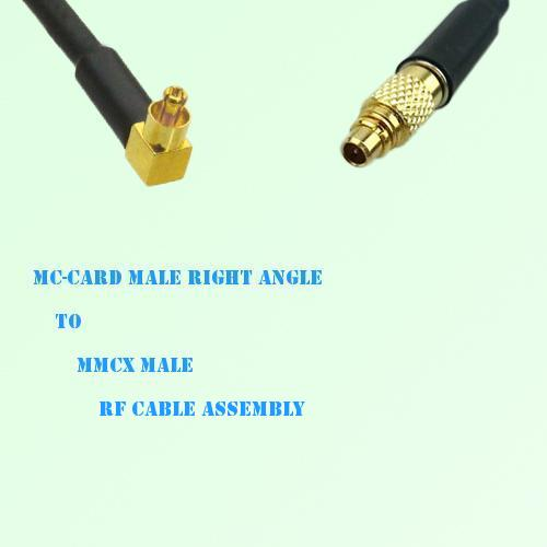 MC-Card Male Right Angle to MMCX Male RF Cable Assembly