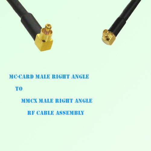 MC-Card Male Right Angle to MMCX Male Right Angle RF Cable Assembly