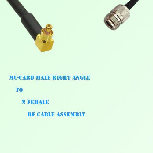 MC-Card Male Right Angle to N Female RF Cable Assembly