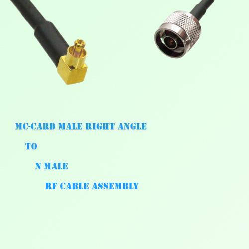 MC-Card Male Right Angle to N Male RF Cable Assembly