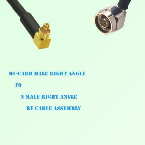 MC-Card Male Right Angle to N Male Right Angle RF Cable Assembly