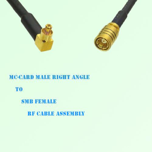 MC-Card Male Right Angle to SMB Female RF Cable Assembly