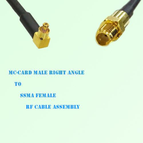 MC-Card Male Right Angle to SSMA Female RF Cable Assembly