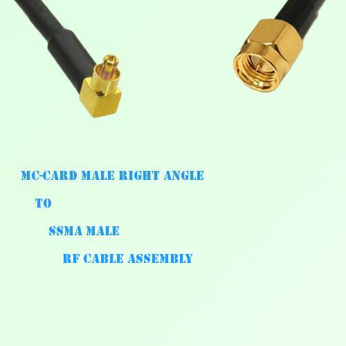 MC-Card Male Right Angle to SSMA Male RF Cable Assembly