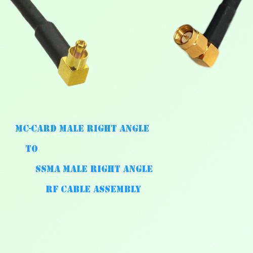 MC-Card Male Right Angle to SSMA Male Right Angle RF Cable Assembly