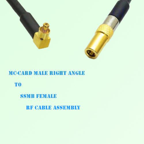 MC-Card Male Right Angle to SSMB Female RF Cable Assembly