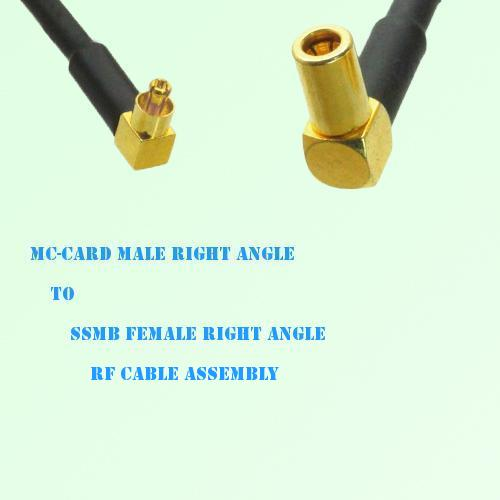 MC-Card Male Right Angle to SSMB Female Right Angle RF Cable Assembly
