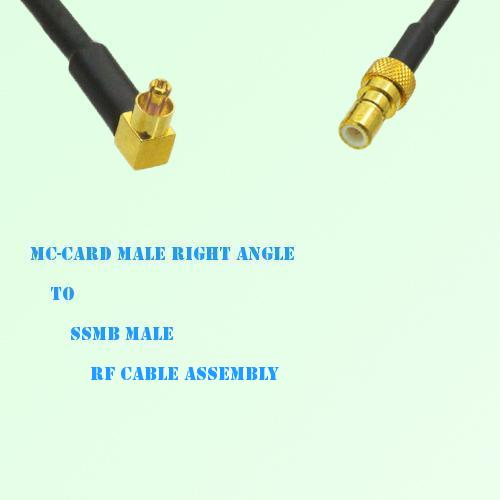 MC-Card Male Right Angle to SSMB Male RF Cable Assembly