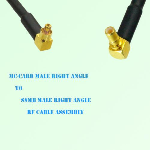 MC-Card Male Right Angle to SSMB Male Right Angle RF Cable Assembly
