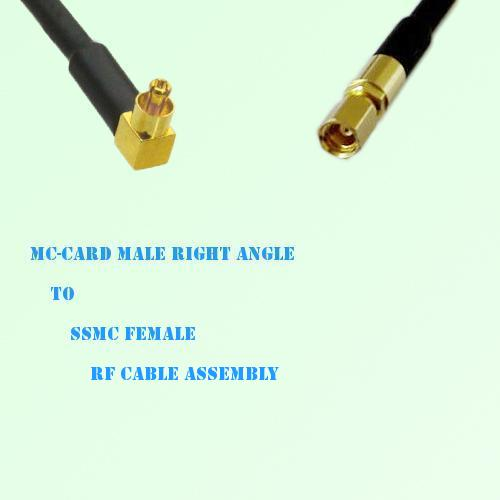 MC-Card Male Right Angle to SSMC Female RF Cable Assembly