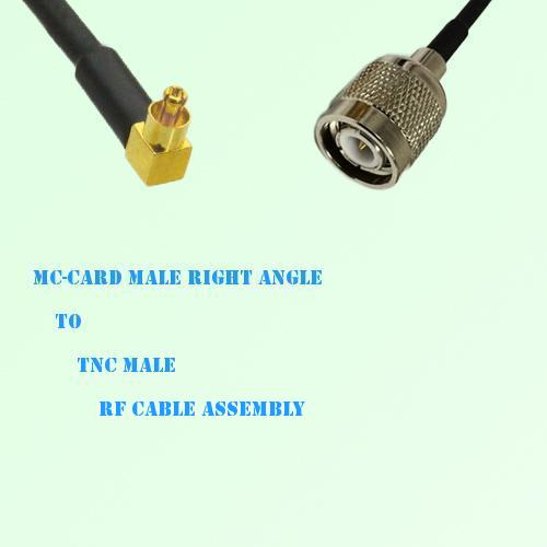 MC-Card Male Right Angle to TNC Male RF Cable Assembly