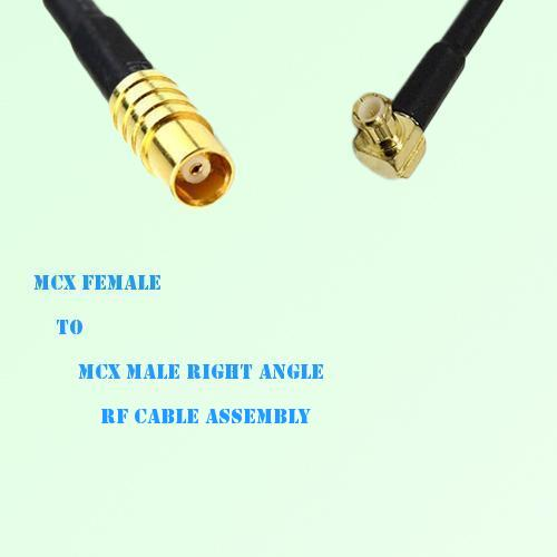 MCX Female to MCX Male Right Angle RF Cable Assembly
